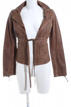 Fornarina Leather Jacket brown casual look