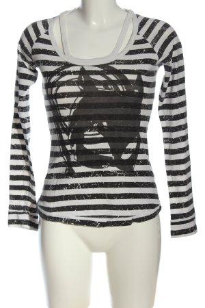 Fornarina Longsleeve black-white themed print casual look