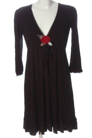 Fornarina Mini Dress black-red spot pattern elegant