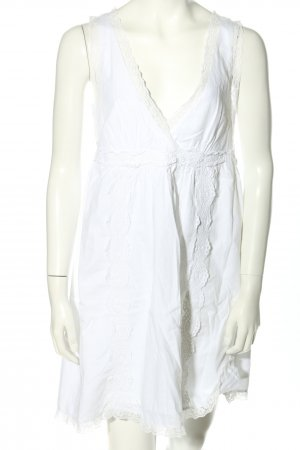 Fornarina Minikleid weiß Schriftzug gestickt Casual-Look