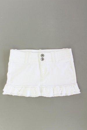 Fornarina Minirock Größe M weiß aus Baumwolle
