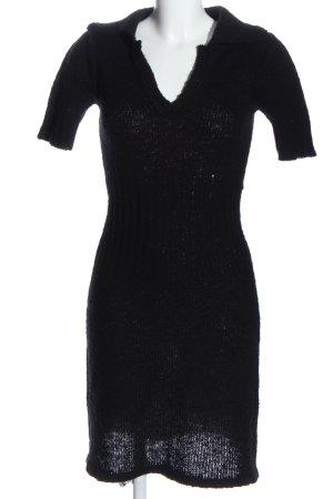 Fornarina Swetrowa sukienka czarny W stylu casual