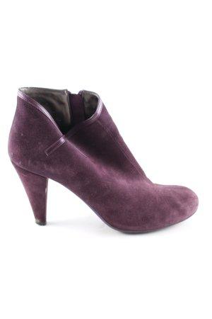 Fornarina Reißverschluss-Stiefeletten lila Business-Look