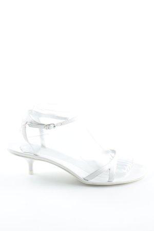 Fornarina Riemchen-Sandaletten weiß-silberfarben extravaganter Stil