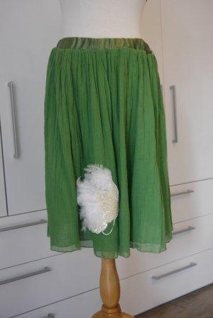 Fornarina Spódnica midi zielony Bawełna