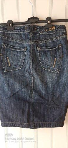 Fornarina Jupe en jeans bleu