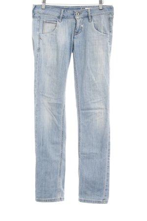 Fornarina Jeans cigarette bleu azur style délavé