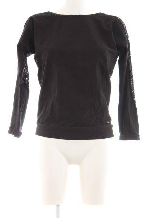 Fornarina Sweter z okrągłym dekoltem czarny W stylu casual