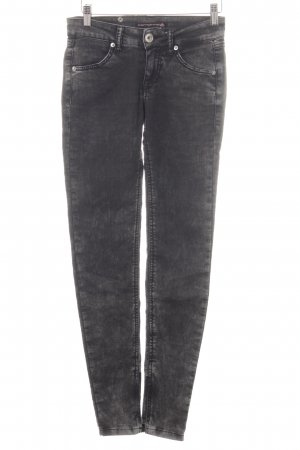 Fornarina Skinny Jeans schwarz-hellgrau Casual-Look