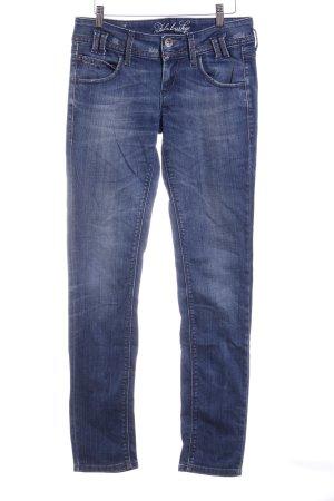Fornarina Slim Jeans blau Logo-Applikation aus Metall