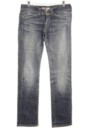 Fornarina Slim Jeans stahlblau Washed-Optik