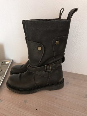Fornarina Biker Boots dark green-gold-colored