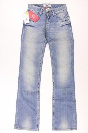 Fornarina Jeans coupe-droite bleu-bleu fluo-bleu foncé-bleu azur coton
