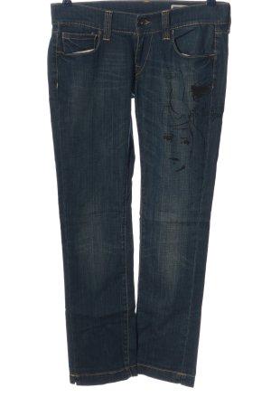 Fornarina Straight-Leg Jeans blau-schwarz Motivdruck Casual-Look
