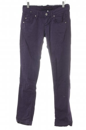 Fornarina Straight-Leg Jeans dunkelviolett Casual-Look