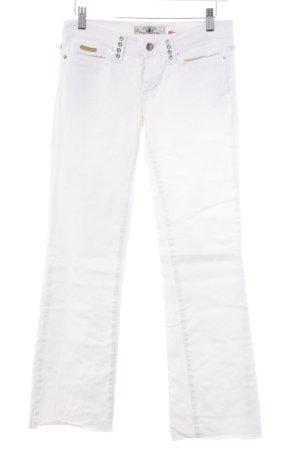 Fornarina Straight-Leg Jeans weiß-silberfarben Casual-Look