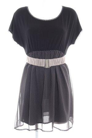 Fornarina Stretchkleid schwarz-grau Punktemuster Casual-Look