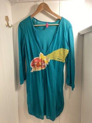 Fornarina Robe tunique turquoise