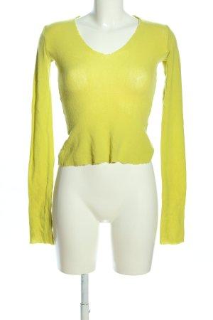 Fornarina V-Ausschnitt-Pullover blassgelb Casual-Look