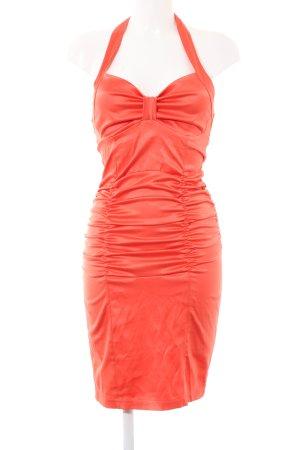 forti Vestido de cuello Halter rojo elegante