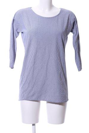Forvert Longsleeve weiß-blau Streifenmuster Casual-Look