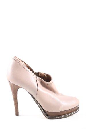 Fosco Reißverschluss-Stiefeletten pink-braun Casual-Look