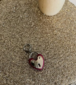 Fossil Charm bordeaux-silver-colored