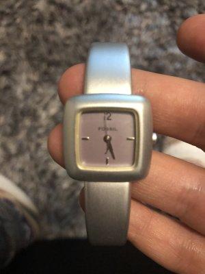 Fossil Reloj con pulsera metálica color plata