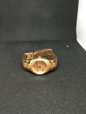 Fossil Montre avec bracelet métallique rose chair-brun sable