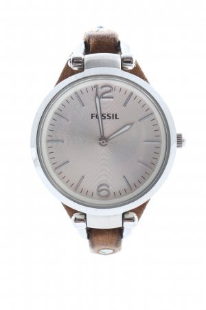 Fossil Analog Watch brown-silver-colored casual look