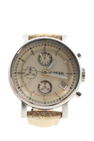 Fossil Reloj analógico marrón elegante