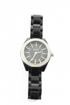 Fossil Analoguhr schwarz Casual-Look