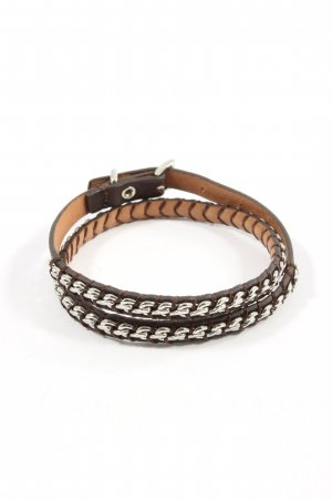 Fossil Armband braun-weiß Allover-Druck Casual-Look