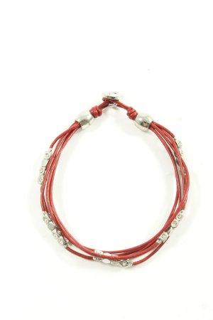 Fossil Armband rot-silberfarben Elegant