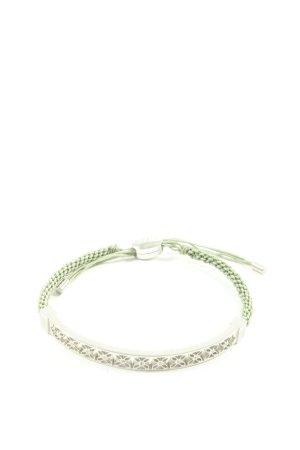 Fossil Armband silberfarben-grün Casual-Look