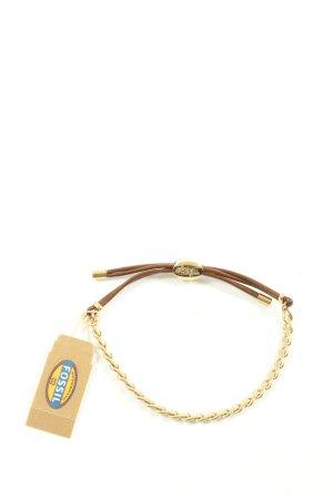 Fossil Armband braun-goldfarben Elegant