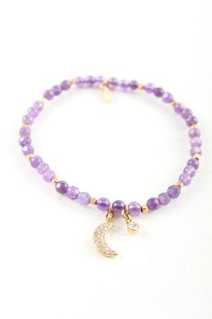 Fossil Bracelet violet-doré style décontracté