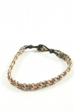 Fossil Armband hellgrau-nude Zopfmuster Casual-Look