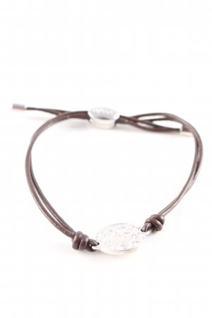 Fossil Armband bruin-zilver casual uitstraling