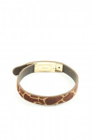 Fossil Armband braun-goldfarben Animalmuster Casual-Look