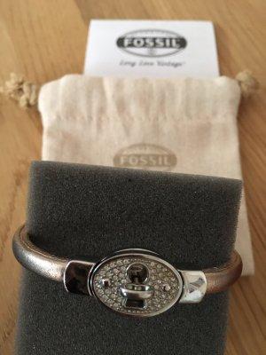 Fossil Armband Edelstahl/Leder