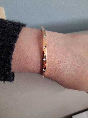 Fossil Bangle rose-gold-coloured-white
