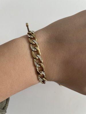 Fossil Armband Gold braun mit Steinen