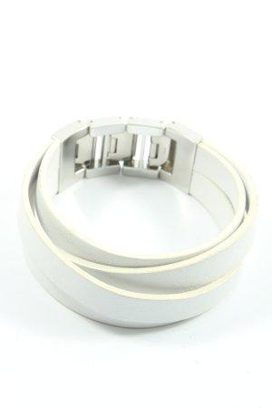 Fossil Armband weiß-silberfarben Elegant