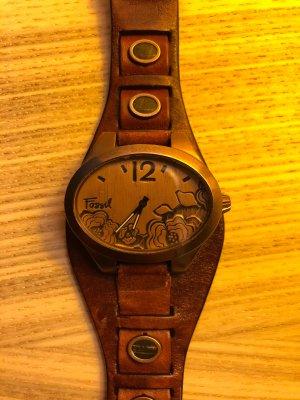 Fossil Armbanduhr Damen braun