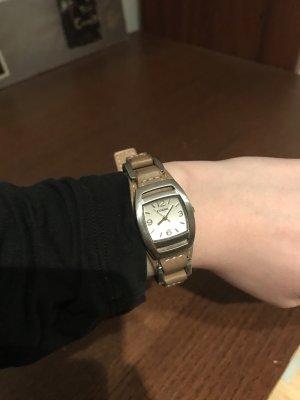 Fossil Horloge met lederen riempje veelkleurig Leer