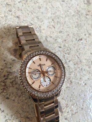 Fossil Armbanduhr, Roségold