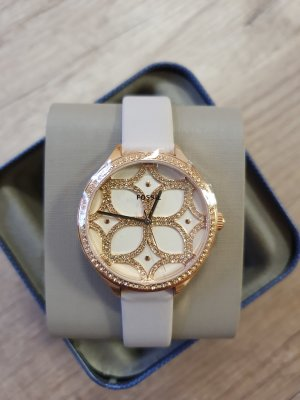 fossil bq3553 suitor damenuhr armbanduhr uhr neu rosè gold grau Leder