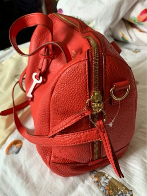 Fossil Satchel bright red