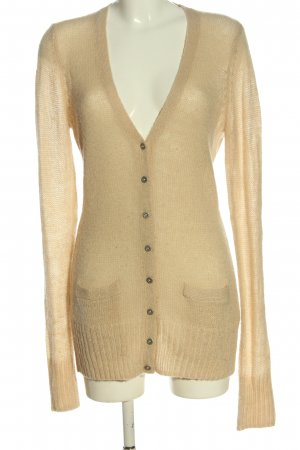 Fossil Cardigan cream cable stitch casual look